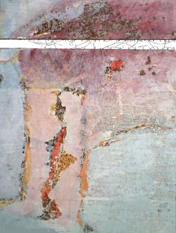 Etre en …<br>Technique mixte<br>200 x 130 cm, Tunis, 2004