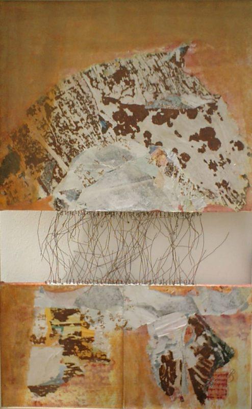 Désunion<br>Technique mixte sur toile<br>200 x 110 cm, Tunis, 2002