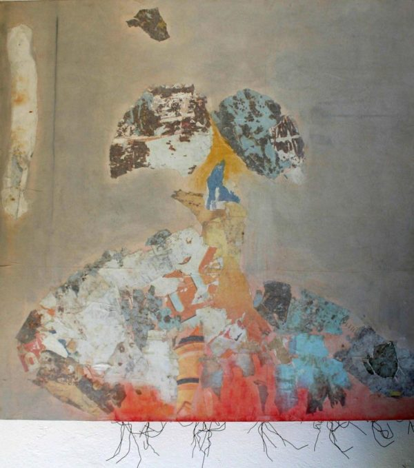 Censure<br> Collage sur toile, 130x130cm<br> Tunis, 2006