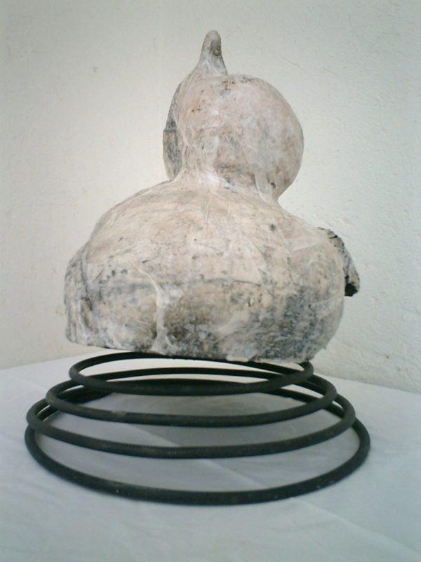 Danse du corps<br> 60 x 60 x 47 cm<br>Raku 2003